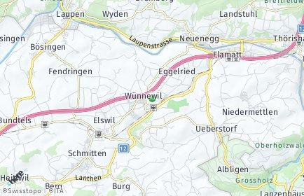 Stadtplan Wünnewil-Flamatt
