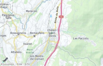 Stadtplan Châtel-Saint-Denis