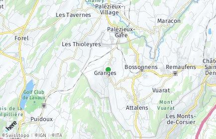 Stadtplan Granges (Veveyse)