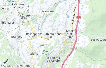 Stadtplan Remaufens