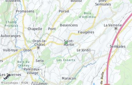 Stadtplan Saint-Martin (FR)