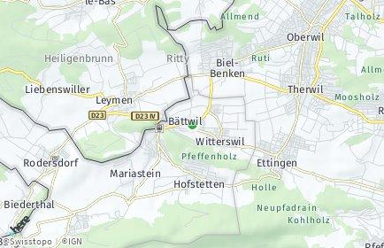 Stadtplan Bättwil