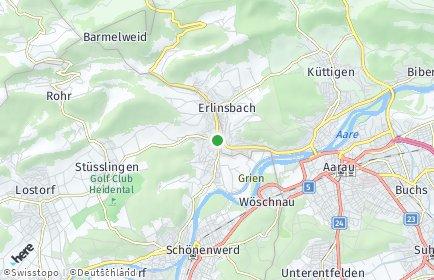 Stadtplan Erlinsbach (SO)