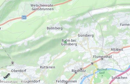 Stadtplan Balm bei Günsberg