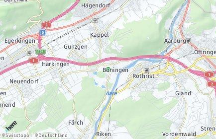 Stadtplan Boningen