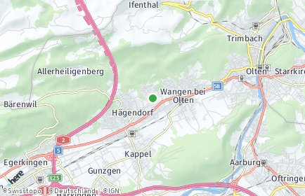 Stadtplan Rickenbach (SO)