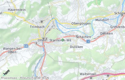 Stadtplan Starrkirch-Wil