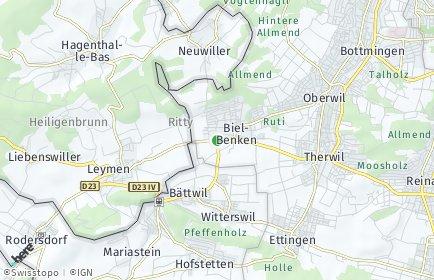 Stadtplan Biel-Benken