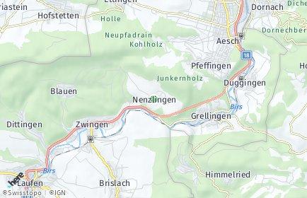 Stadtplan Nenzlingen