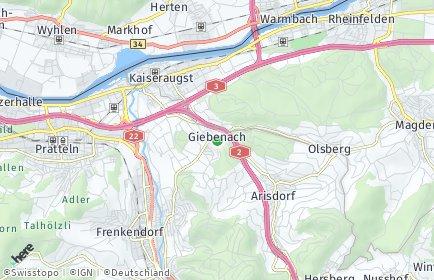 Stadtplan Giebenach