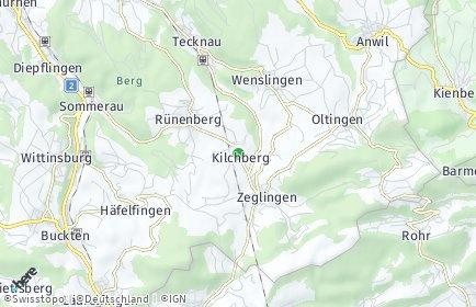 Stadtplan Kilchberg (BL)