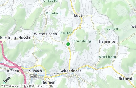 Stadtplan Rickenbach (BL)