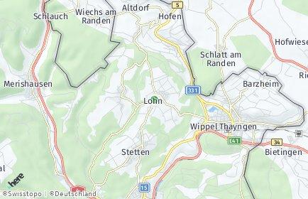 Stadtplan Lohn (SH)