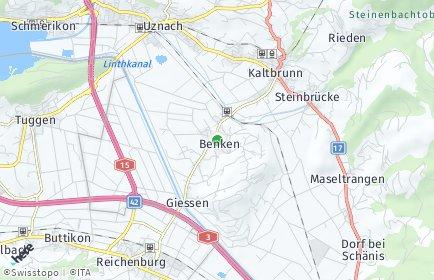 Stadtplan Benken (SG)