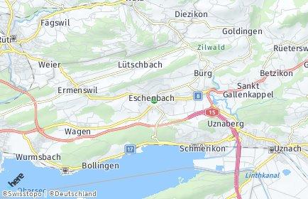 Stadtplan Eschenbach (SG) OT Eschenbach