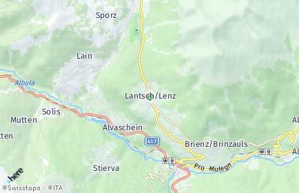 Stadtplan Lantsch/Lenz