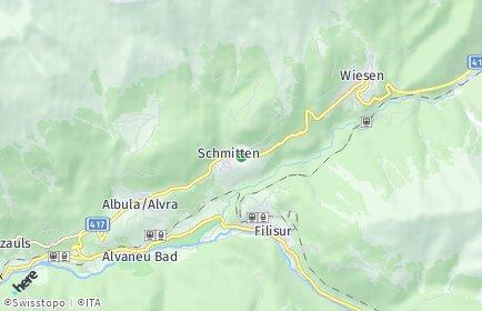 Stadtplan Schmitten (GR)