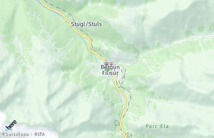 Stadtplan Bergün/Bravuogn