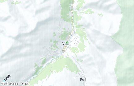 Stadtplan Vals