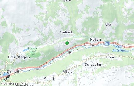 Stadtplan Waltensburg/Vuorz