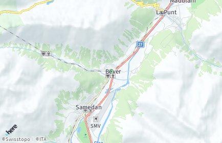 Stadtplan Bever