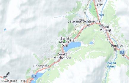 Stadtplan Sankt Moritz