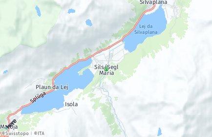 Stadtplan Sils im Engadin/Segl