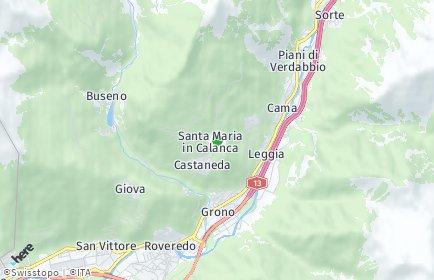 Stadtplan Santa Maria in Calanca