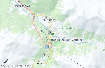 Stadtplan Klosters-Serneus