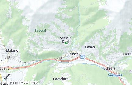 Stadtplan Seewis im Prättigau