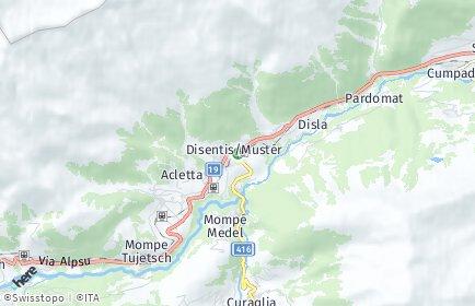 Stadtplan Disentis/Mustér