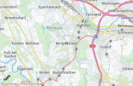 Stadtplan Bergdietikon