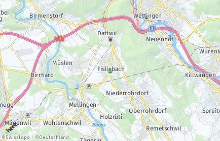 Stadtplan Fislisbach