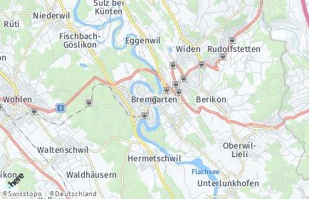 Stadtplan Bremgarten (AG)