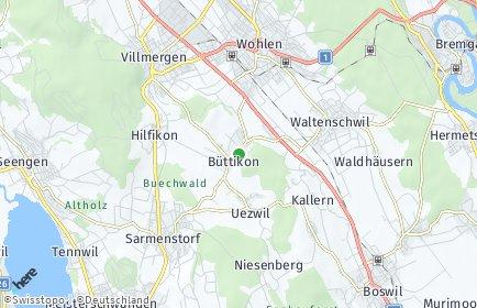 Stadtplan Büttikon