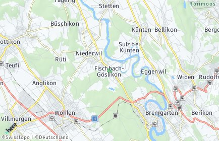 Stadtplan Fischbach-Göslikon