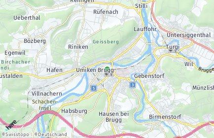 Stadtplan Brugg OT Brugg