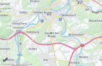 Stadtplan Hausen (AG)