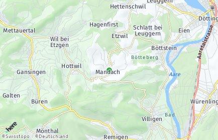 Stadtplan Mandach