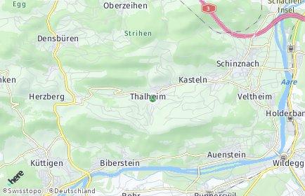 Stadtplan Thalheim (AG)