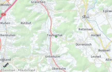 Stadtplan Teufenthal