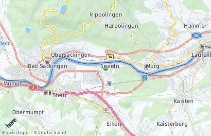 Stadtplan Sisseln