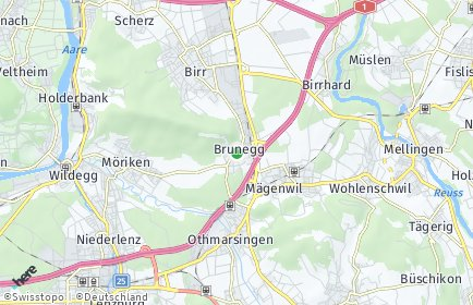 Stadtplan Brunegg