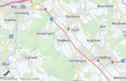 Stadtplan Dintikon