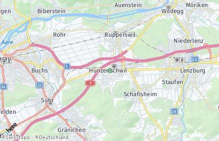 Stadtplan Hunzenschwil