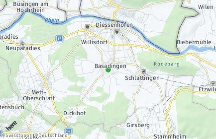 Stadtplan Basadingen-Schlattingen