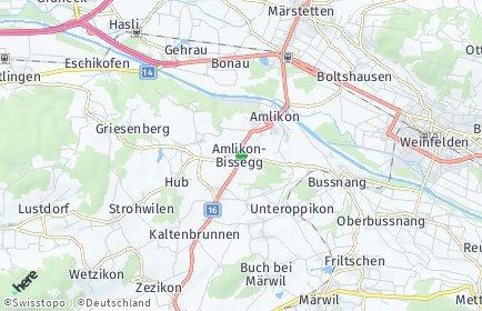 Stadtplan Amlikon-Bissegg