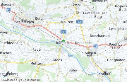 Stadtplan Bürglen (TG)