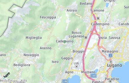Stadtplan Cademario