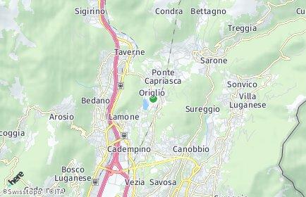 Stadtplan Origlio